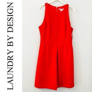 Laundry by Design Fiery Red Sleeveless Dress